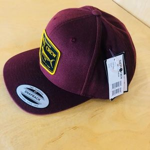 eb05f25464ec5 Accessories - Salty Crew Burgundy Stealth 6 Panel SnapBack Hat